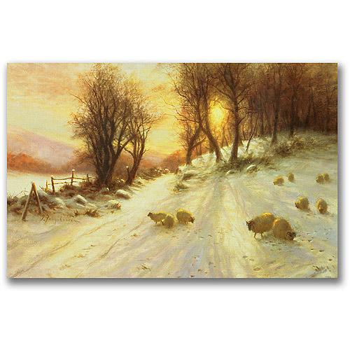 "Trademark Fine Art ""Sheep In The Winter"" Canvas Wall Art by Joseph Farquharson"