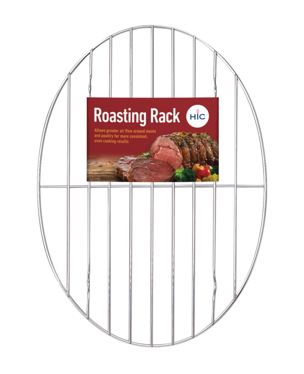 HIC Broiler Rack, 12-Inches x 7.5-Inches, HIC's Roasting Rack for baking, roasting and broiling beef, poultry, pork, game, and fish, oven... by