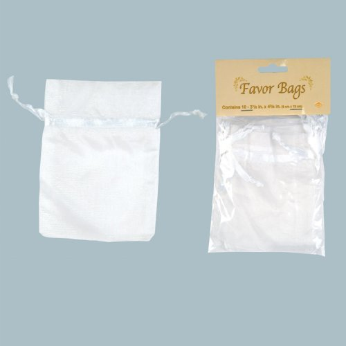 White Favor Bags (10 count)