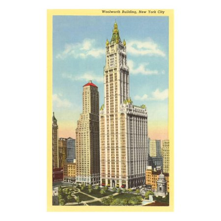 Woolworth Building, New York City Print Wall Art (Woolworth Building New York Ny)