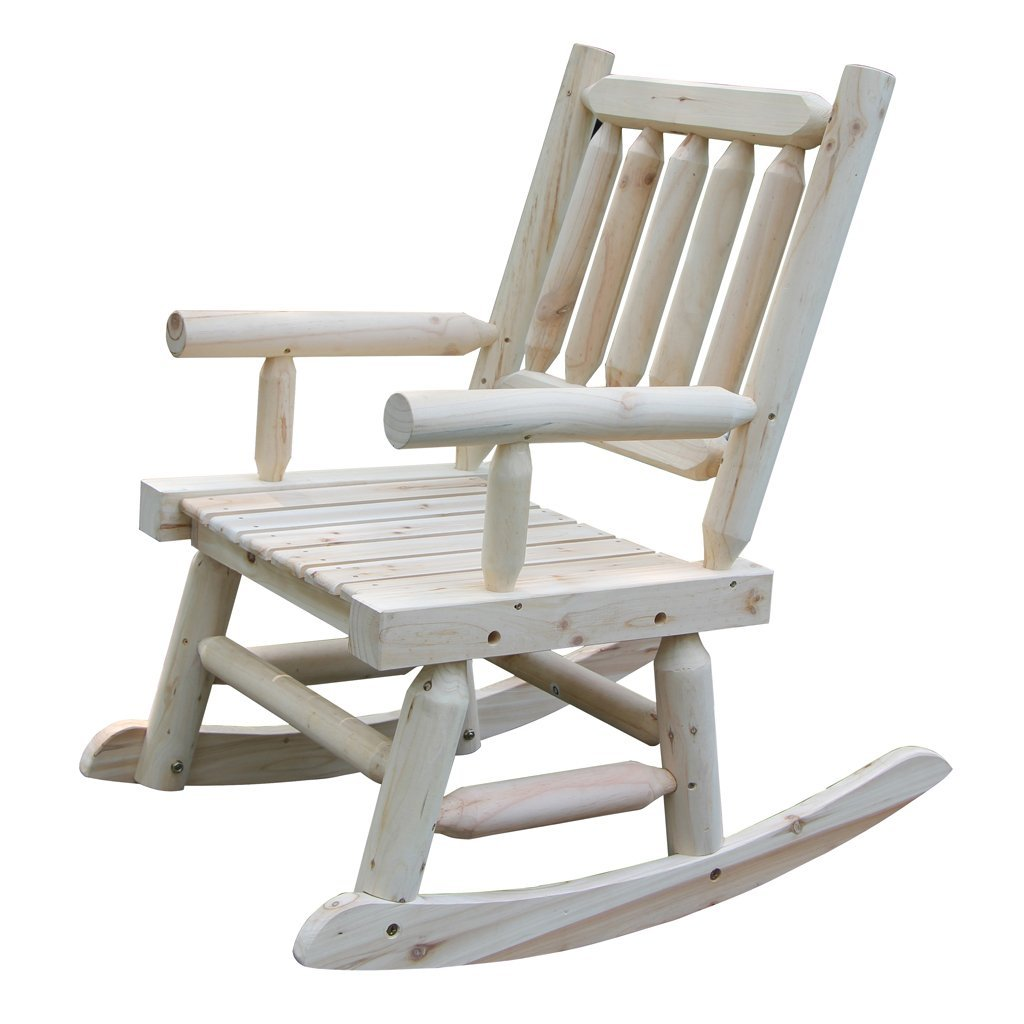 VH Furniture Wooden Rocking Chair With Natural Material Comfortable Oversized Patio Furniture, Single