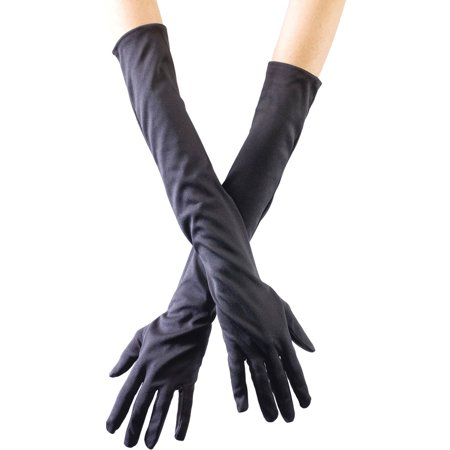 Black Opera Gloves Adult Halloween Accessory
