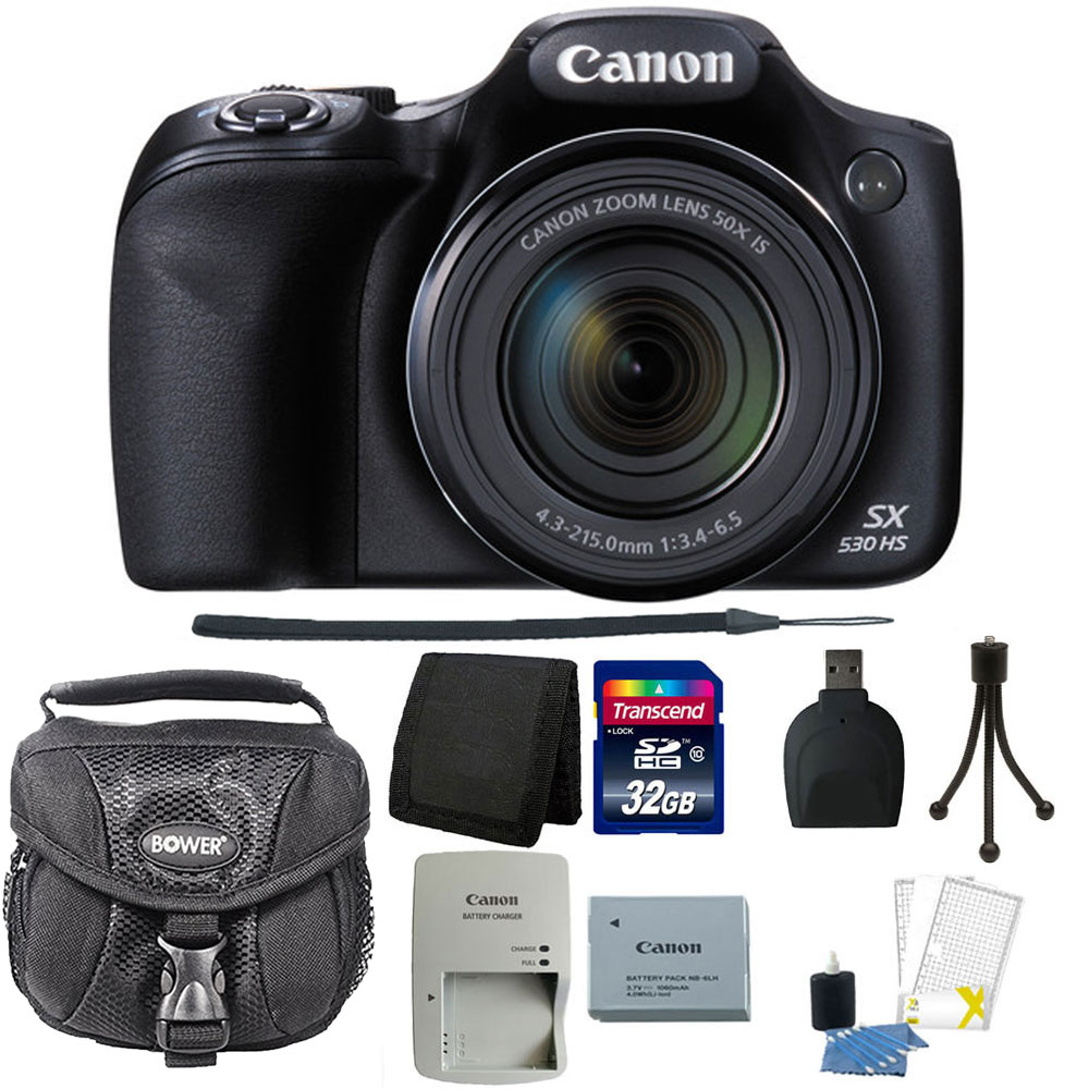 Canon PowerShot SX530 HS 16MP Wi-Fi Digital Camera (Black...