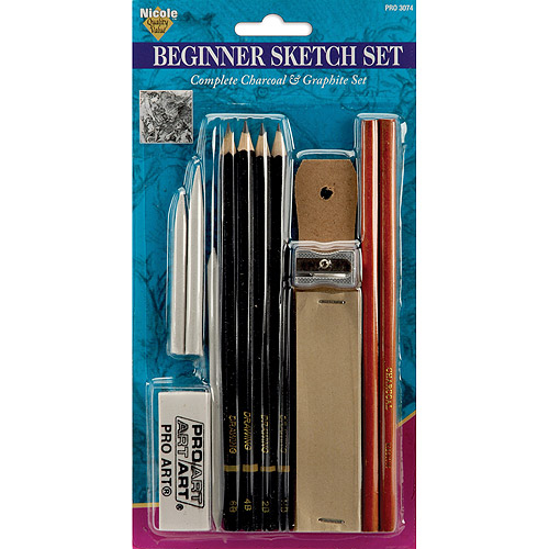 Pro Art Beginner Sketch Set, 11-Pack