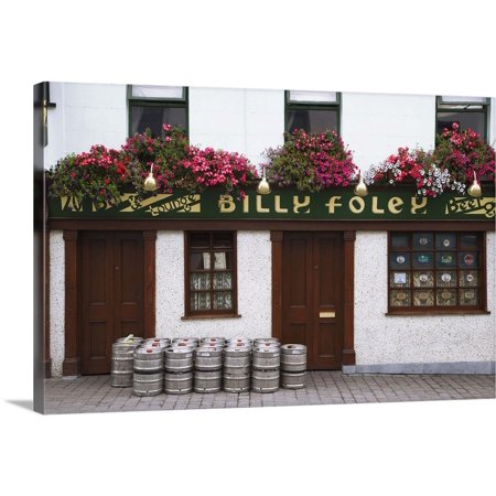 Freak 16' Barrel Front - Great BIG Canvas | Dennis Flaherty Premium Thick-Wrap Canvas entitled Ireland, County Tipperary. Beer barrels in front of Billy Foley pub
