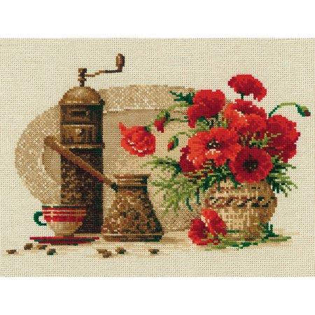 Coffee Counted Cross Stitch Kit, 11.75