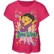 Dora The Explorer - Dora Wins Girls Youth T-Shirt