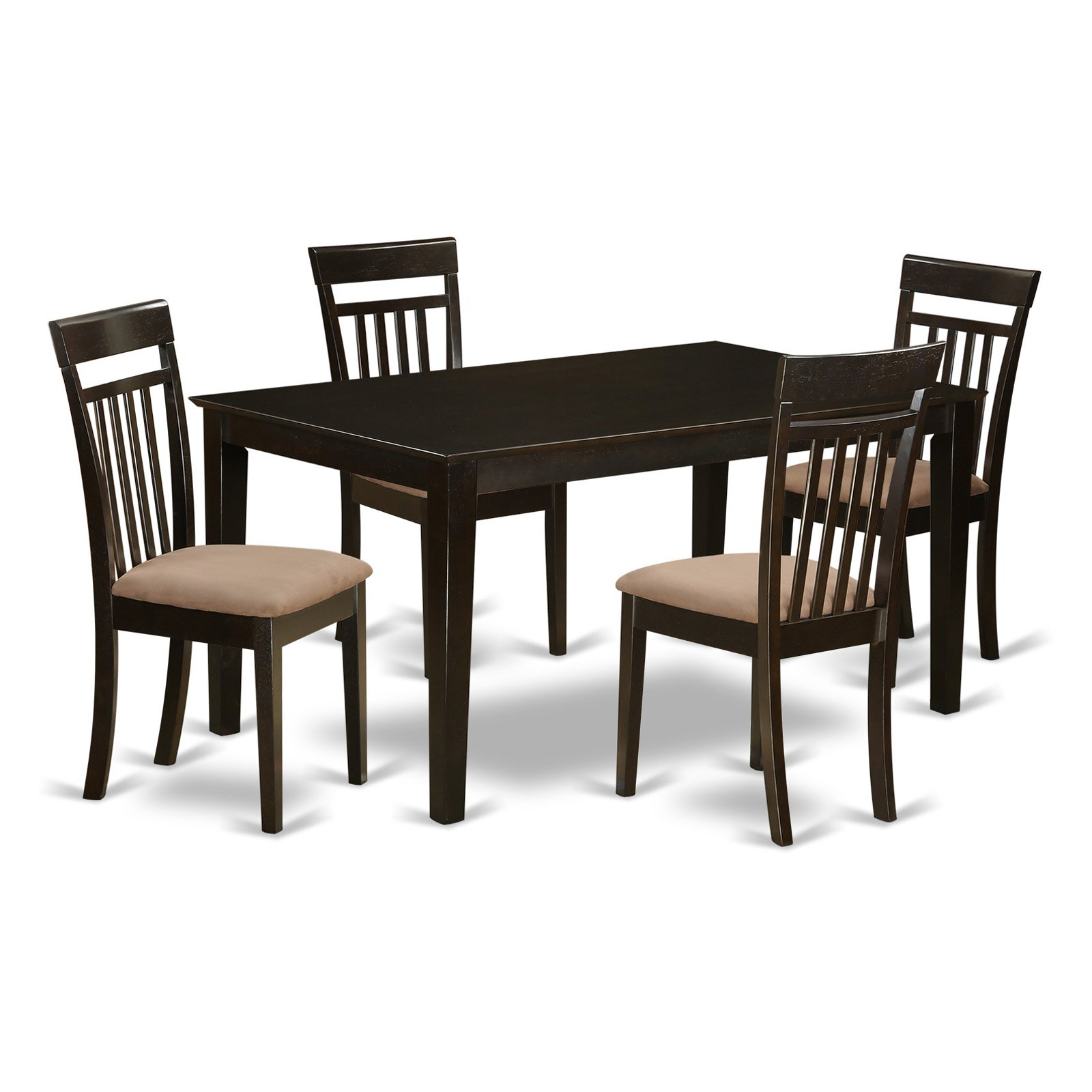 East West Furniture Capri 5 Piece Sheraton Dining Table Set
