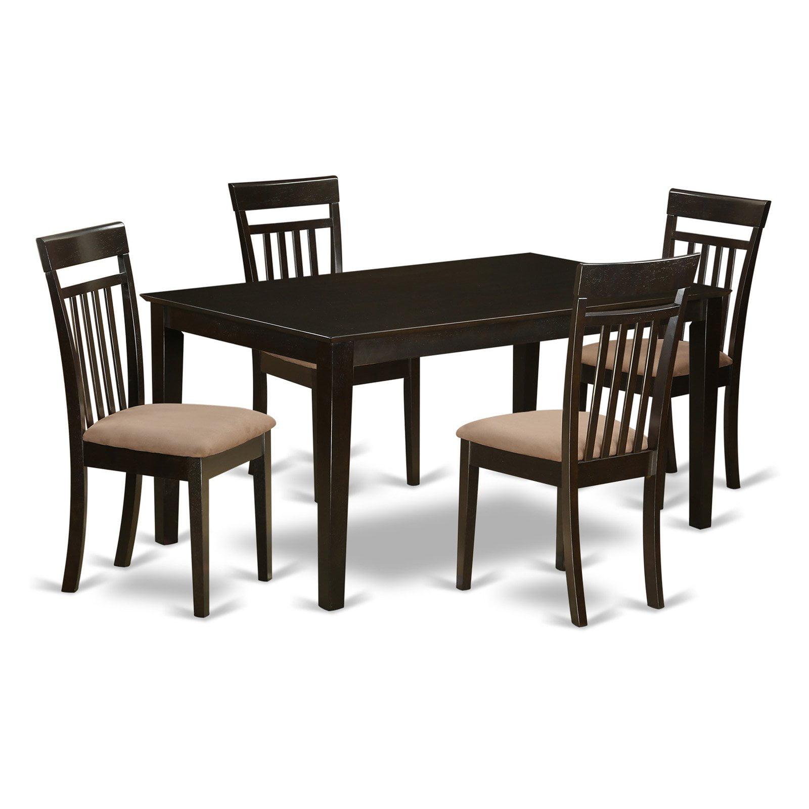 East West Furniture Capri 5 Piece Sheraton Dining Table Set