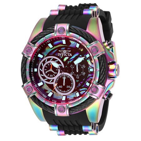 Rainbow Aura Quartz - Invicta Men's 28020 Bolt Quartz Chronograph Rainbow Dial Watch