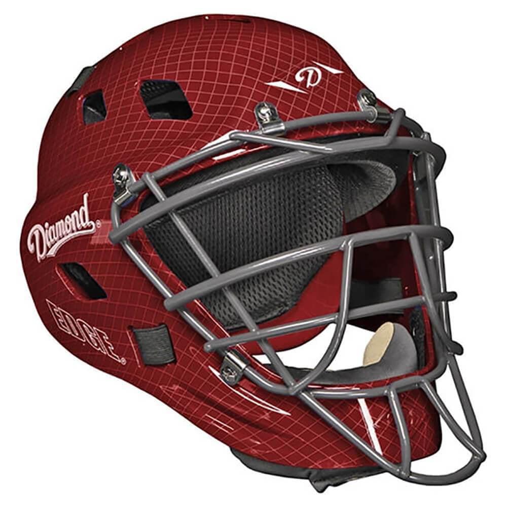 Diamond DCH-Edge Pro Catcher's Helmet Small - Maroon