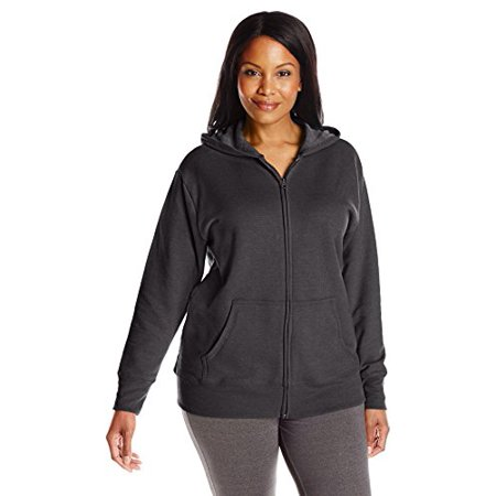 d13e3604042 Just My Size Womens Plus-Size Full Zip Fleece Hoodie