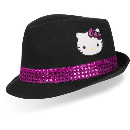Hello Kitty - Hello Kitty - Girls  Fedora Hat - Walmart.com 7fbf724d396
