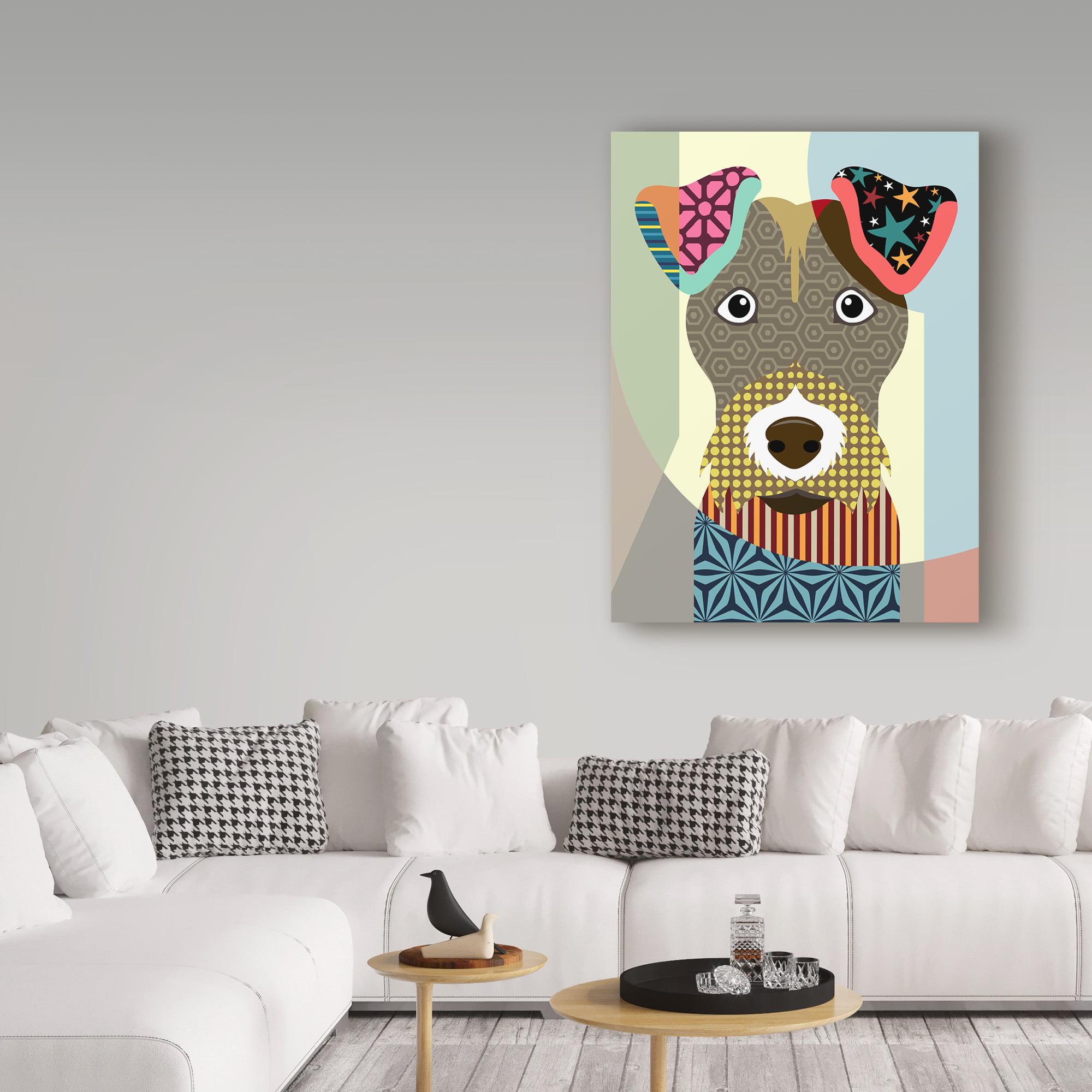 Trademark Fine Art \'Wire Fox Terrier\' Canvas Art by Lanre Adefioye ...