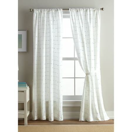 Better Homes and Gardens Embroidered Knot Rod Pocket Curtain Panel