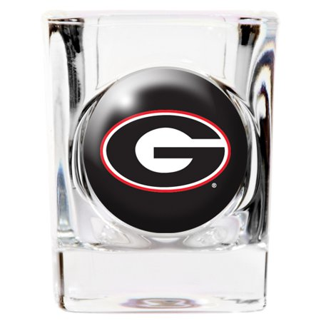 Georgia Bulldogs NCAA Team Logo Square Shot Glass