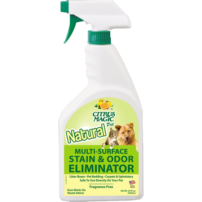 Citrus Magic Pet Multi-Surface Stain and Odor Eliminator, Pack of 3, 22-Ounce Each