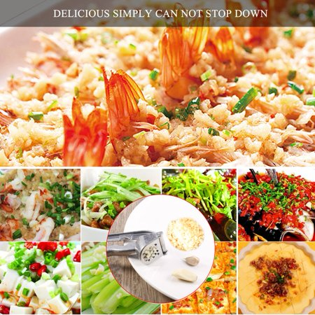 Durable Metal Garlic Press Presser Aluminum Kitchen Tool Cooking Gadgets