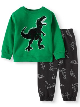 Garanimals Toddler Boys Graphic Sweatshirt and Sweatpants, 2pc Outfit Set