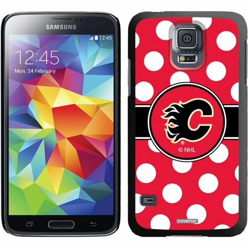 Calgary Flames Galaxy S5 Polka Dot Thin-Shield Case - No Size