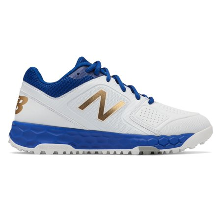 New Balance Fresh Foam Turf Velo1 Baseball Womens Shoes Blue with White
