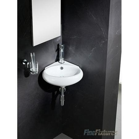 ... Fixtures Modern Vitreous Round Corner Wall Hung Sink - Walmart.com