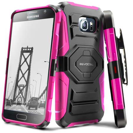 Galaxy S7 Case, Evocel [Belt Clip Holster] [Kickstand] [Dual Layer] New Generation Phone Case for Samsung Galaxy S7 (SM-G930), Pink