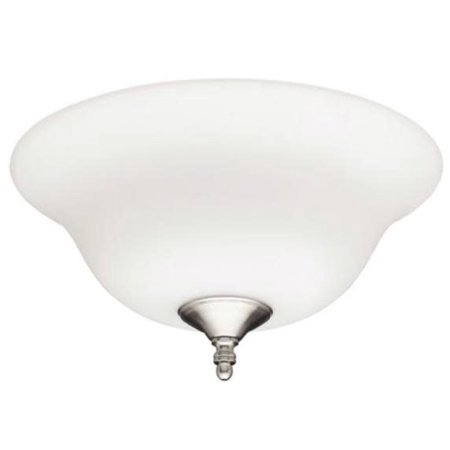 "Hunter Fan Company 28592 12"" Bowl Light with Frosted Opal, White, Brushed Nickel"