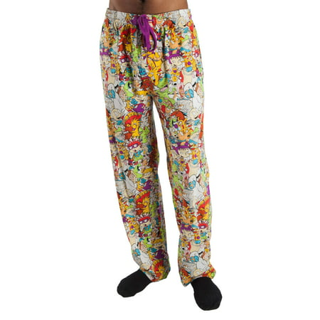 Nickelodeon Men's Retro Character Pajama Pant (Mens Novelty Lounge Pants)