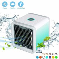 VicTsing Multifunction Portable Air Conditioner Fan 3 in 1 Personal Space Air Cooler, Humidifier, Purifier, Desktop Cooling Fan 3 Speeds 7 Colors LED