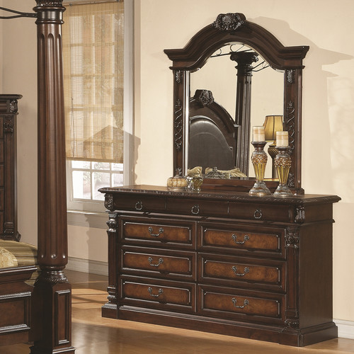 Wildon Home  Juliet 9 Drawer Dresser with Mirror