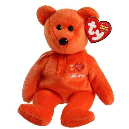 4834dc9df35 TY Beanie Baby - CALIFORNIA the Bear (I Love California - State Exclusive) (8.5  inch) - Walmart.com