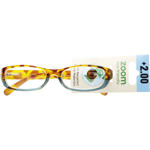 Zoom Eco Friendly Reading Glasses Tort Blue Two Tone 2.00
