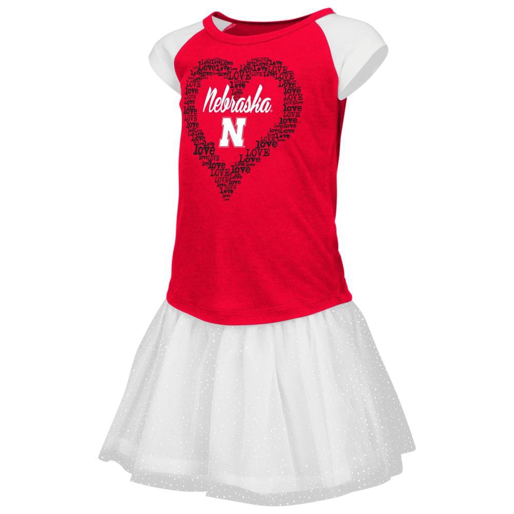Nebraska Cornhuskers Toddler Shirt and Tutu Skirt Set