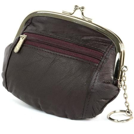 3333b0d83da9 Walmart Small Coin Purses. Womens Leather Coin Purse Mini Wallet Metal Frame  ...