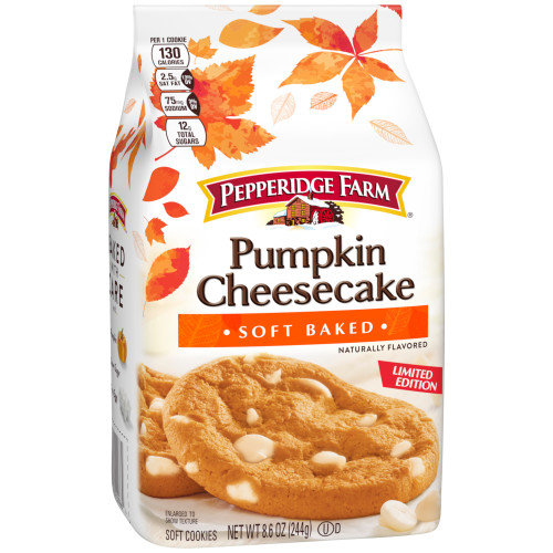 Pepperidge Farm Soft Baked Pumpkin Cheesecake Cookies, 8.6 oz. Bag -  Walmart.com - Walmart.com