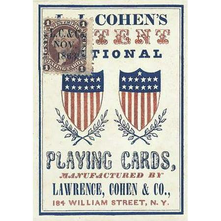 1863 Patent National Poker Deck