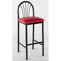 Alston Quality 1902 BLK-Claret 30 in. Parlor Bar Stool Black Frame by Parlor Bar Stools