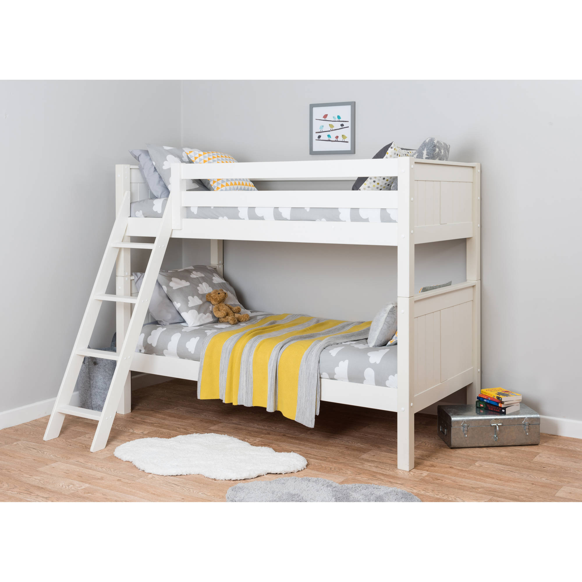 Ace Bayou Classic Twin Over Twin Wood Bunk Bed, White by Ace Bayou