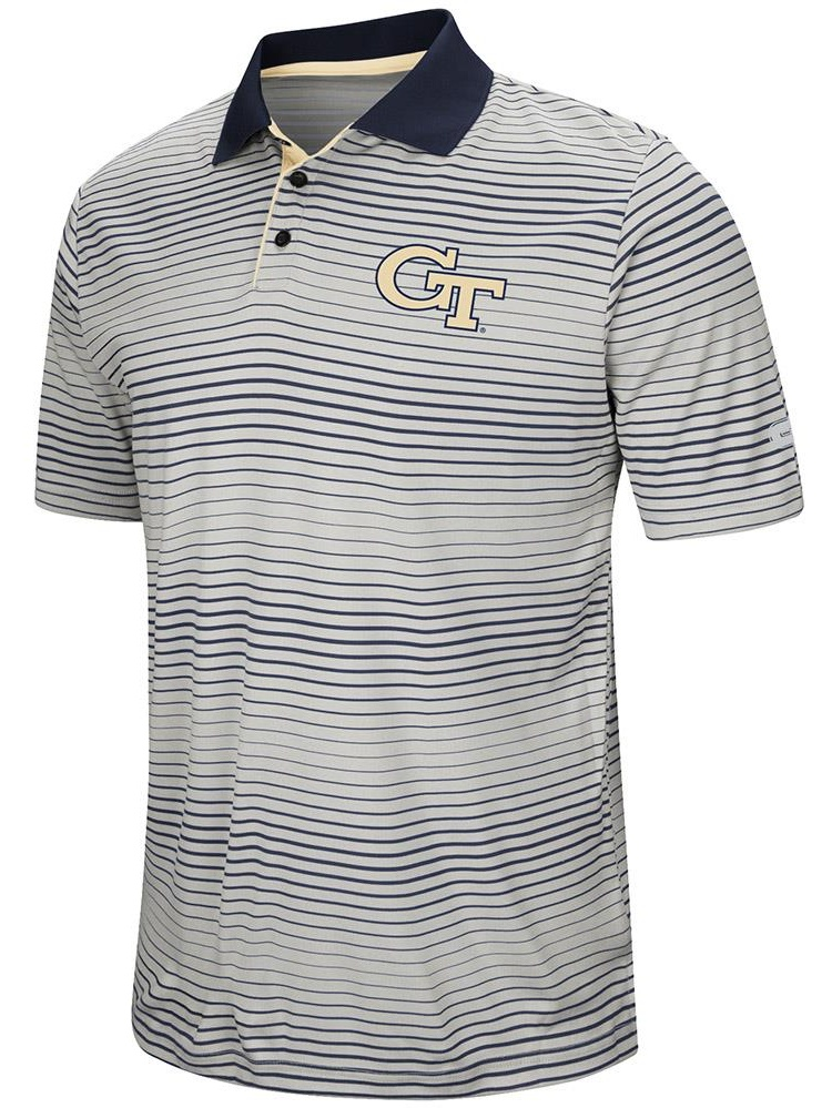 Mens Georgia Tech Yellow Jackets Short Sleeve Polo Shirt S by Colosseum