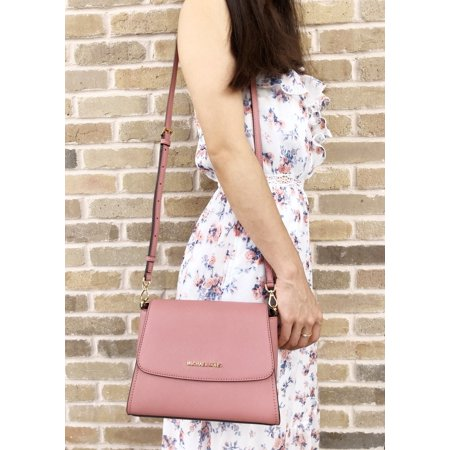 Michael Kors Small Sofia Portia East West Satchel Crossbody Rose Pink Leather East West Satchel Bag