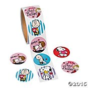 Snoopy Valentines Day (Peanuts Snoopy Valentine's Day Stickers (1 roll, 100)