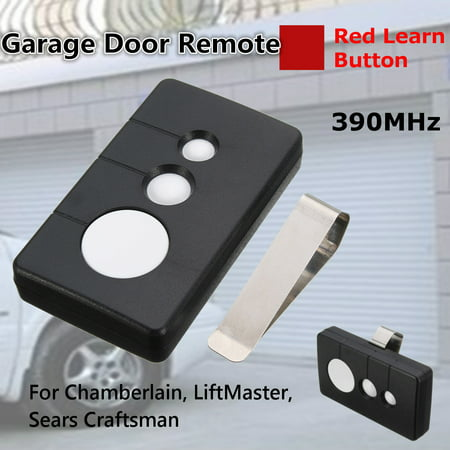 1/2Pcs 390MHz 3 Button Garage Door Remote Opener Fit Sears Craftsman Chamberlain LiftMaster (Sears Craftsman Garage Door Opener Wiring Diagram)