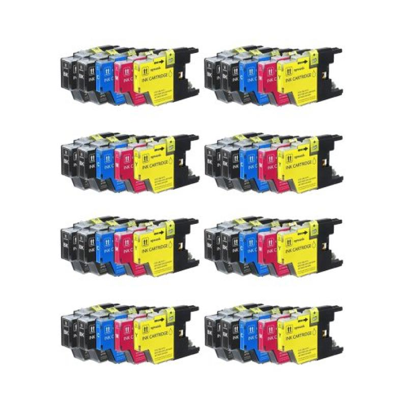Inkcool 40pk Brother Compatible LC75 (LC-75) Ink cartridg...