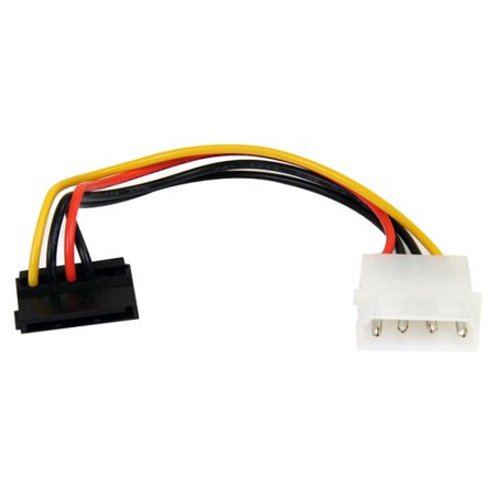 6in 4 Pin Molex to Right Angle SATA Power Cable Adapter