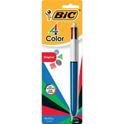 (2 Pack) BIC 4-Color Retractable Ball Pen, Assorted Colors, 1-Pack