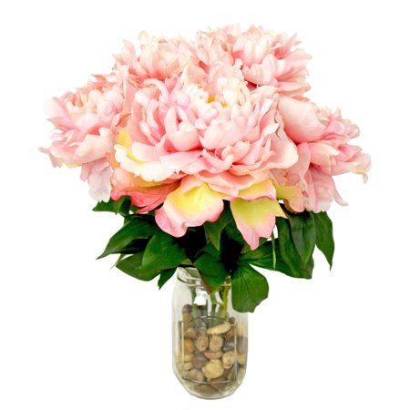 Creative displays amp designs peony silk flower arrangement in jar creative displays amp designs peony silk flower arrangement mightylinksfo