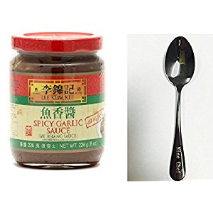 - Lee Kum Kee Spicy Garlic Sauce (Yu Hsiang) - 8oz + One NineChef Spoon (1 Bottle)