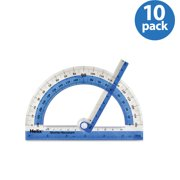 """(10 Pack) Helix 180° Shatter Resistant Swing Arm Protractor 6"""" / 15cm"""