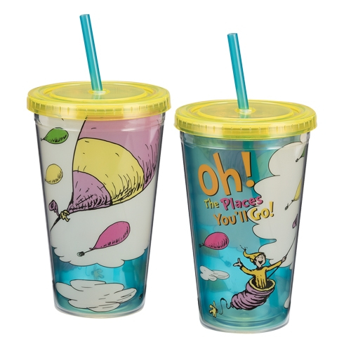 Dr. Seuss Oh The Places You'll Go Acrylic Travel Cup